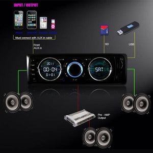 IMAGE® Car Vehicle In Dash Audio MP3 & FM Radio Receiver With Remote Control, USB/SD Card Input AUX Receiver
