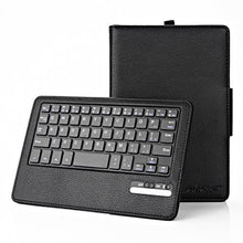 AGPtEK Keyboard Case for Fire HD 8 (5th Generation, 2015 released), Ultra-Slim Leather Protective Cover with Detachable Wireless Bluetooth Keyboard, Black