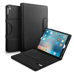 AGPtEK Keyboard Case for Apple iPad Pro 10.5 inch (2017 Version), Ultra-Slim Leather Protective Cover with Detachable Wireless Bluetooth Keyboard, Black
