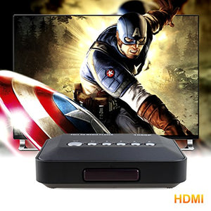 AGPtek Black 1080P HDMI TV Media Player with HDMI YPbPr USB 2.0 SD Ports Remote Control for MP3 AVI RMVB MPEG etc.