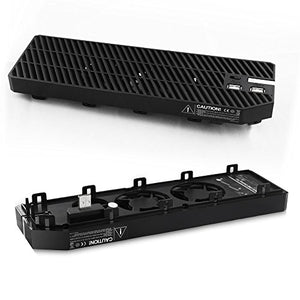 AGPtEK Xbox One Cooling Fan, 3 Cooler, with 2 Ports USB Hub for Gaming Xbox One Console Controller, BLACK