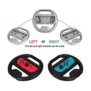 AGPTEK Joy-Con Steering Wheel (Set of 2) and Gel Guards (L/R) for Nintendo Switch