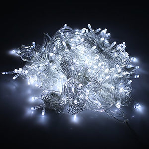 Curtain Icicle Lights, AGPtEK 3M X 3M 8 Modes White Fairy String Lights for Christmas Wedding Home Garden Outdoor Window (300 LED)
