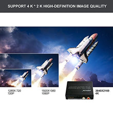 AGPtek HDMI Audio (SPDIF+R/L) Extractor Support Ultra HD 4K x 2K /ARC / Toslink Optical Audio Output + RCA L/R Audio Converter - Support Full HD 1080P, 3D, 4K x 2K Resolution