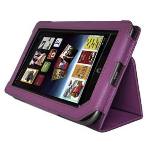 Tablet Case Cover, AGPtEK Slim Folio Stand Leather Protector for Barnes & Noble Nook Tablet/ Nook Color, Purple