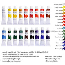 Acrylic Paint Set, AGPtEK 18 Tubes Vivid Color Non-Toxic Paints for Beginners & Professionals, For Canvas, Wood, Ceramic, Fabric, Leather and Nail Art, 12ml Each
