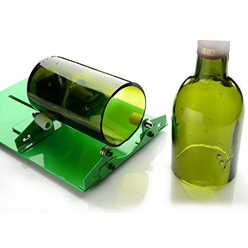 [New Version] AGPtek Long Glass Bottle Cutter Machine, Glass Bottle Cutting Tool For Wine Bottles- Easy to Use No other Tools Required, DIY Tool (Cutting up to 23cm/9inch)