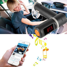 Car Bluetooth Wireless Fm Radio Transmitter, AGPtek with 5V/4.2A Dual USB Charging and Music Control and Hands-free Calling Black/LCD Display