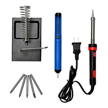 AGPTek 60W 110V Pencil Handle Adjustable Electric Gun Welding Soldering Iron Tool Set with 5 pcs Iron Tips + Solder Sucker + Holder Stand - 8 in 1 Iron Kit