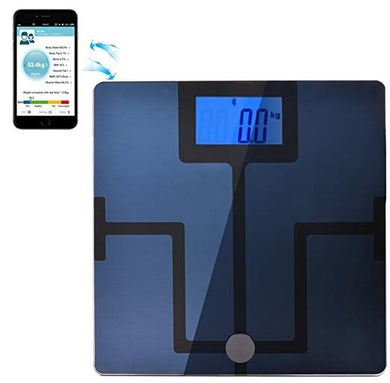 AGPtEK® Bluetooth Body Fat Digital Weight Scale for iPhone, iPad, iPod and Android Smart Phones and Tablets (Body Composition Analyzer, Smart Body Analyzer)