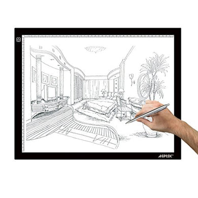 AGPtek 16.9 X 13 Inch (A3 Size) Ultra-thin USB Power LED Artcraft Tracing Light Pad Light Box Light-Pad For Artists, Drawing, Sketching, Animation -- 3-level adjustable brightness