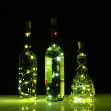 Wine Bottle Lights with Cork,LED Cork Lights for Bottle, AGPtEK Copper Wire Starry Fairy Lights, for Christmas, Decoration,DIY, Party, Halloween,Wedding, Dancing,15LED/3 Pack/2.5ft( White )