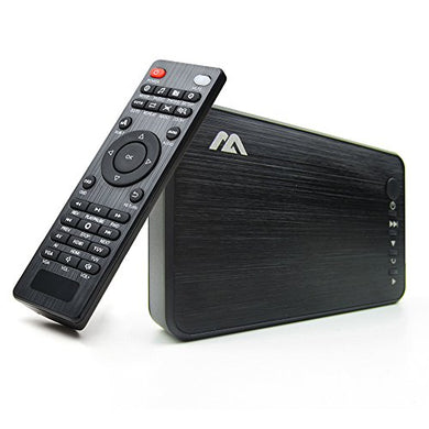 AGPTEK 1080P HD HDMI AV VGA Media Player Black RMVB MKV SD SDHC USB JPEG W / Remote with Optical Audio output