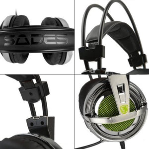 Sades SA-928 Gaming Headset Stereo Lightweight PC Gaming Headphones Headset 3.5 mm Jack with Mic for PC MAC smartphone