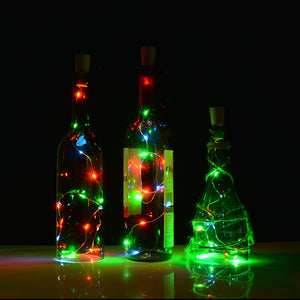 3pcs Wine Bottle Cork Lights Copper Led Light Strips Rope Lamp Kit DIY Colorful