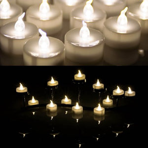 AGPtek Lot 24 Battery Operated LED Warm White Tea Light Candle Flickering