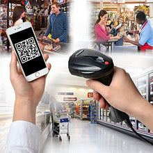 2D QR Barcode Scanner, AGPtEK Handheld Wired USB barcode Imager with USB Cable & Port for PC and Mac -- can read barcodes on your PC screen or phone screen directly
