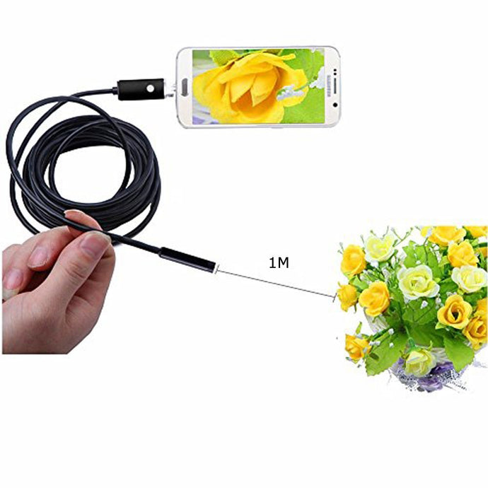 AGPtek HD USB 3.0 Endoscope Borescope For All Macbook Series OS X Laptop Handheld Borescope with 6 LEDs Digital Inspection Camera Snake Camera - 2M/78.74