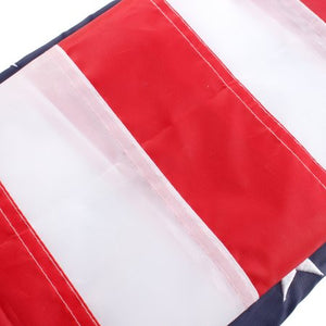AGPtek American Flag / US USA Flag Embroidered Stars and Sewn Stripes 3 x 5ft / 90 x 150cm Nylon