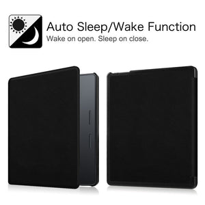 AGPtEK Case for Kindle Oasis - Ultra Slim Lightweight Smart-shell Stand PU Leather Cover with Auto Wake / Sleep for Amazon New Kindle Oasis 2016 Released - Black