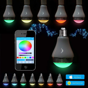 AGPtEK Bluetooth Smart LED Light Bulb Dimmable Color Changing LED Lights with Built-in Music Speaker for iPhone, iPad, Samsung Galaxy, HTC