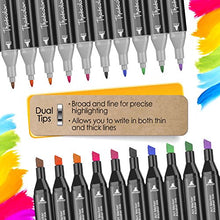 48 Colors Marker Pen Set, AGPtEK Permanent Dual Tips Marker Pens Art Markers with Zipper Carrying Bag for Kids Adults Drawing, Sketching, Highlighting & Underlining