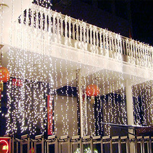 AGPtek 9Mx3M Linkable Fairy Curtain Lights Strings Connectable Lights 8 Lighting Modes