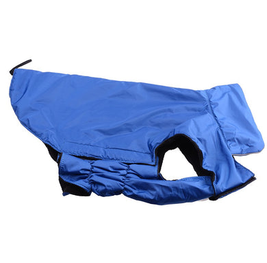 AGPtek® Universal Waterproof Fleece Pet Dog Clothes Dog Winter Coat Dog Outdoor Padded Vest Jacket for Dogs (Blue, L)