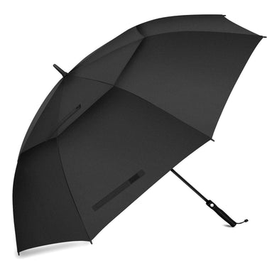 68 Inches Automatic Open Golf Umbrella, Extra Large Oversized Vented Double Canopy Windproof Rainproof & Sun-Resistant (Black)