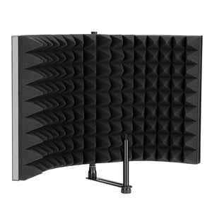 "AGPTEK Studio Microphone Foam Shield Soundproofing Acoustic Panel Mic Booth Shield Noise Deadening Absorbing (L(13""*8.3""))"