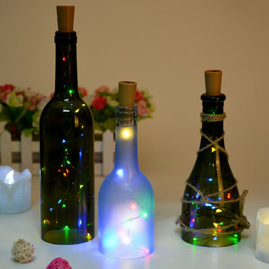 Bottle Led Lights, AGPtek Bottle Mini String Lighting 30in Copper Wire Cork Shape Light Starry Light for Wedding/Party/Decoration - RGB Multi Color