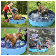 OWNPETS Foldable Pet Pool, Portable Dog Swimming Bathing Pool, Non-Slip Multi-Purpose Kiddie Pool Bathtub for Kids, Dogs, Cats, Pigs & More Pets