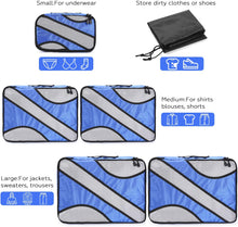 FITNATE Compression Packing Cubes Set 6Pcs, Lightweight, Durable and Breathable, Extensible Storage Mesh Bags (Blue)