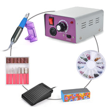Complete Electric Nail Drill Kit Set Art File Bit Acrylic Manicure Pedicure Band