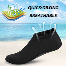 Odoland Men Women Water Skin Shoes, Quick-dry & Anti-slip, Lightweight Flexible Barefoot Aqua Socks for Yoga Surf Pool Beach Swim Water Sports (Black)