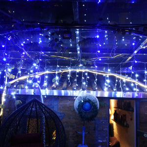 AGPtek 20Mx0.6M Linkable Fairy Curtain Lights Strings Connectable Lights 8 Lighting Modes