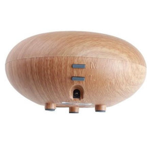 AGPtek Bois Series 160ML Air Aromatherapy Oil Diffuser Ultrasonic Ion Air Humidifier, Shallow Wood Grain Style
