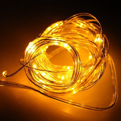 AGPtek Durable 50 individual LED String Lights Waterproof Ultra Thin Copper Wire Starry Light 5M/16.5FT Yellow Color