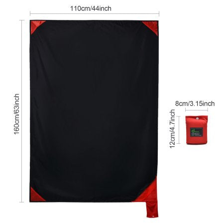 Packable Beach Blanket Portable Picnic Mat Waterproof Sand Free Pocket Size Blanket