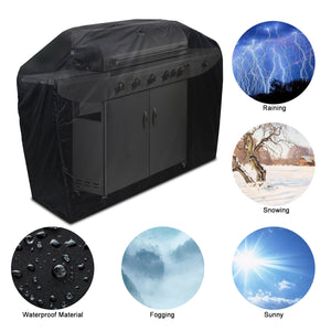 "BBQ Gas Grill Cover 57"" Barbecue Waterproof Outdoor Heavy Duty Protection Black"
