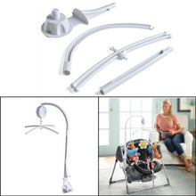 26in Rotary Baby Cot Mobile Crib Bed Toy Infant Bell Hanging Stand Arm Bracket