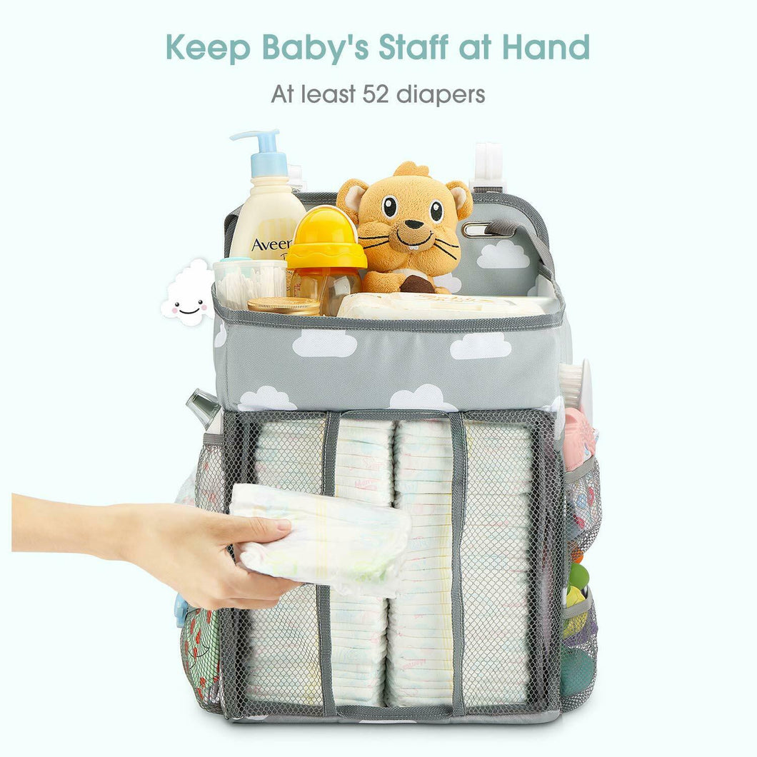 Baby Hanging Crib Organizer Nappy Diaper Changing Storage Caddy Bag Organiser