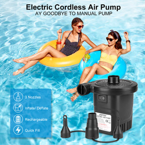 USB Rechargeable Cordless Electric Air Pump inflatables Deflator Bed Mattress