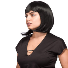 AGPTEK 13 In Straight Heat Resistant Short Bob Full Hair Wigs w/ Flat Bangs New