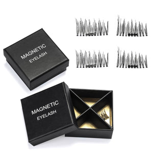 4pcs Magnetic Eyelashes Reusable 3D False Extension Eye Lashes Makeup Handmade
