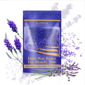 Purple Hard Wax Beans Hair Removal Painless Wax Warmer Waxing Beans Natural Pearl