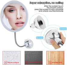 Vanity Mirror 10-TIMES Magnifying LED Lighted Make-up Swivel Suction Cup Compact Folding