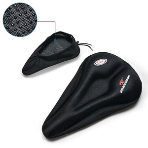 Anti-Slip Silicone Gel Pad Cushion Seat Saddle Cover for Bike Bicycle Cycling