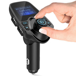 Bluetooth Wireless Handsfree In Car Kit FM Transmitter MP3 Player 2 USB Charger