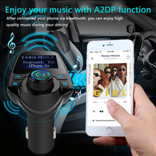 AGPtek Wireless Bluetooth FM Transmitter Radio Adapter Car Kit With USB Car Charger AUX Input 1.44inch Display TF Card Slot